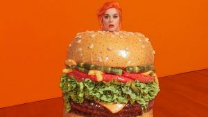Katy Perry Hamburger Costume
