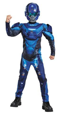 BLUE SPARTAN MUSCLE CHILD 4-6