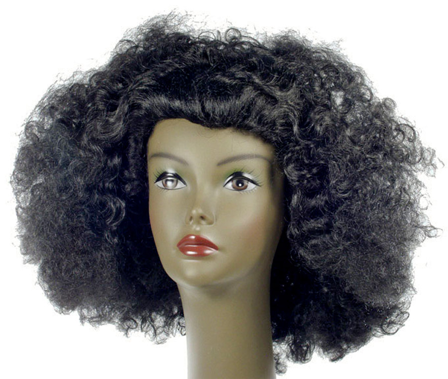 AFRO PULLED OUT BLACK