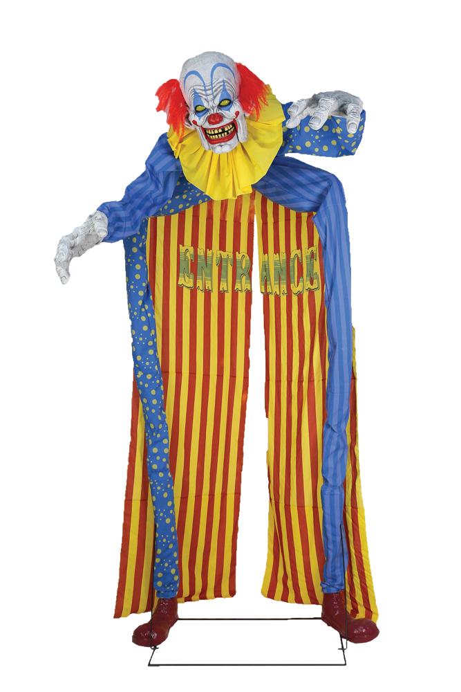 Looming Clown Animated Archway Prop