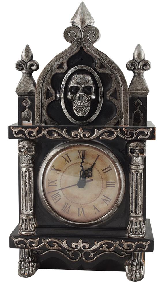 ANIMATED HAUNTED RAVEN CLOCK