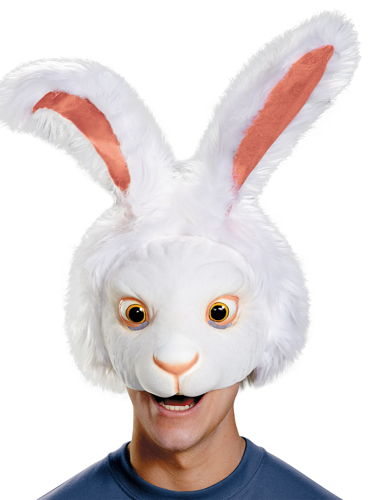 WHITE RABBIT HEADPIECE ADULT