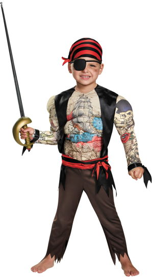 PIRATE TODDLER MUSCLE 3T-4T