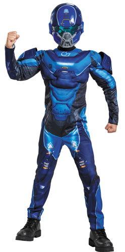 BLUE SPARTAN MUSCLE CHLD 10-12