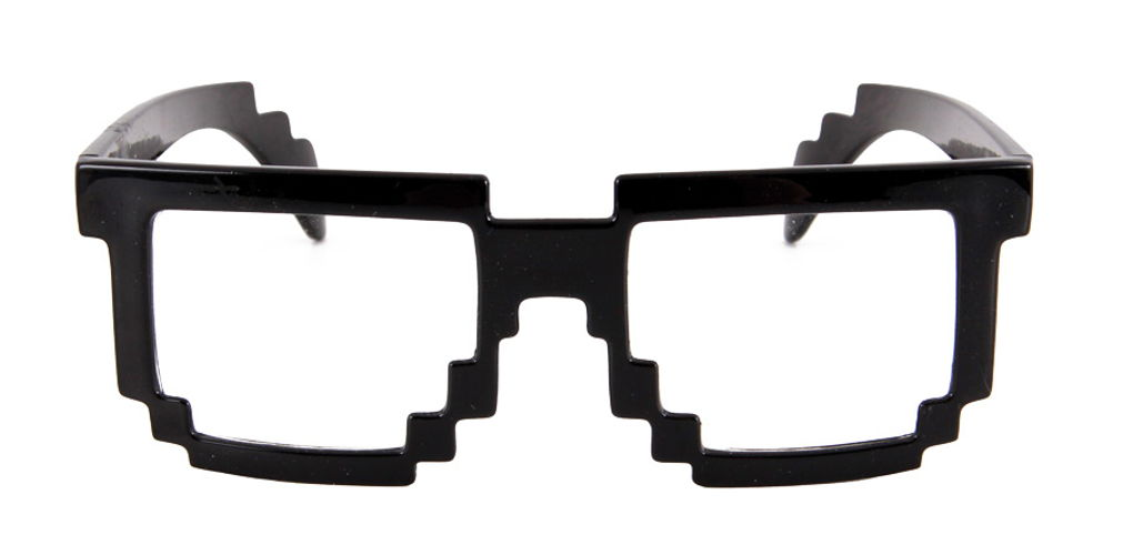 PIXEL-8 GLASSES BLACK CLEAR