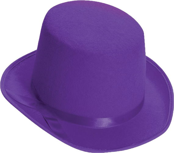 TOP HAT ADULT PURPLE