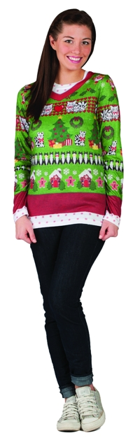 LADIES UGLY CHRISTMAS XL
