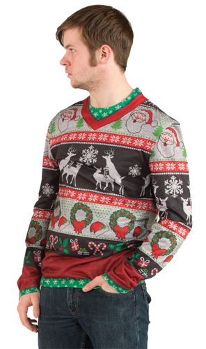 UGLY CHRISTMAS FRISKY DEER LG