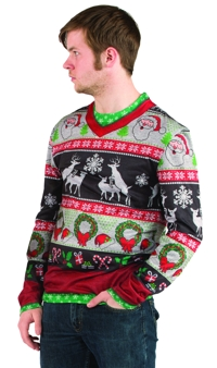 UGLY CHRISTMAS FRISKY DEER XL