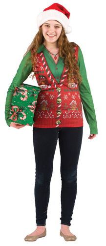LADIES UGLY CHRISTMAS VEST SM