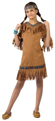 AMERICAN INDIAN GIRL CHILD LG