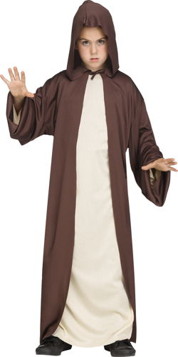 HOODED ROBE BROWN CH OS