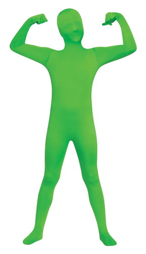 SKIN SUIT GREEN CHLD 8-10