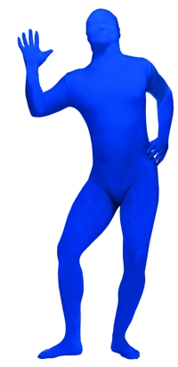 SKIN SUIT BLUE TEEN/AD SM