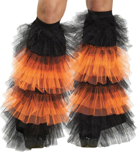 BOOT COVERS TULLE RUFFLE BK Or