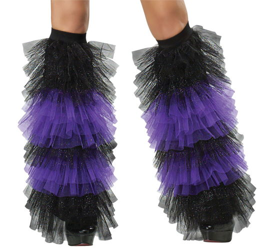 BOOT COVERS TULLE RUFFLE Bk Pr