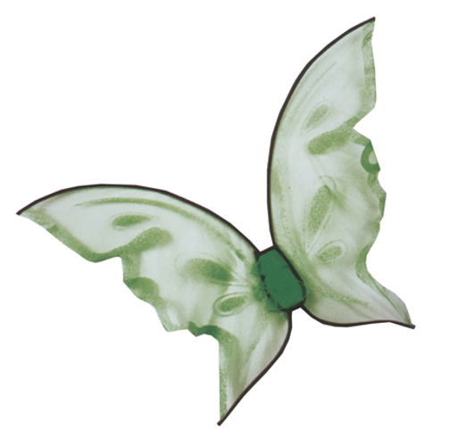 WINGS BUTTERFLY GRN HOT COLOR
