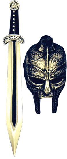 GLADIATOR MASK SWORD SET