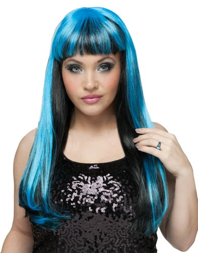 WIG NATURAL N NEON BLACK/BLUE