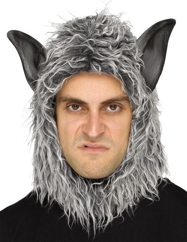 WOLF MAN OR BEAST MASK GREY