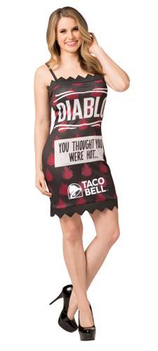 TACO BELL PACKET DRESS DIABLO