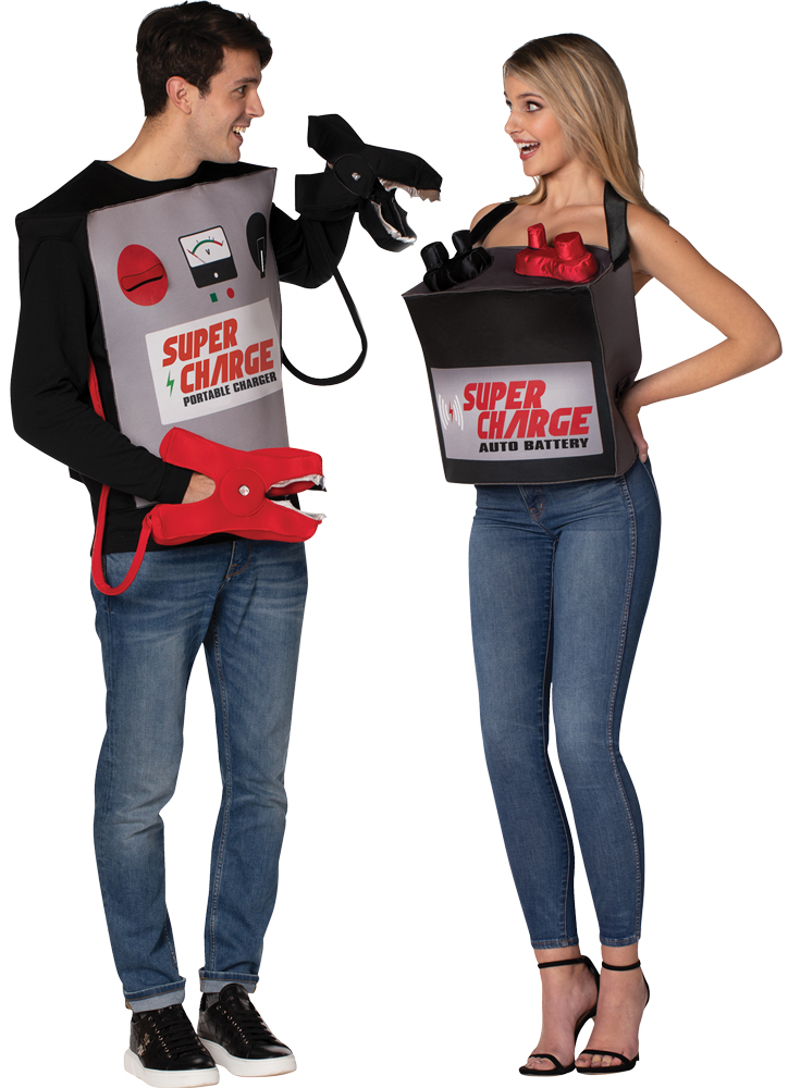 BATTERY & JUMPER CABLES COSTUME