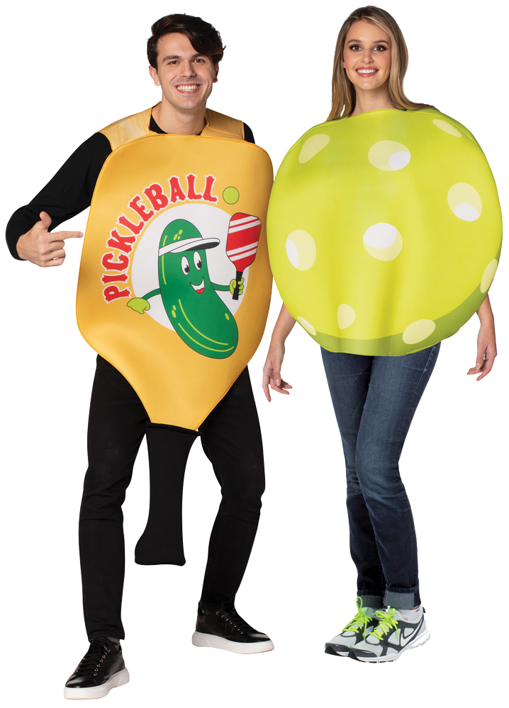 PICKLE BALL PADDLE/BALL COUPLE COSTUME
