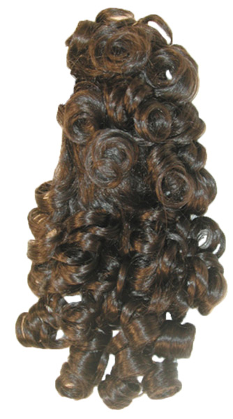 CURLY BANANA CLIP BLACK