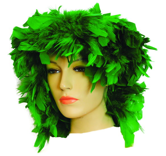 FEATHER WIG GREEN
