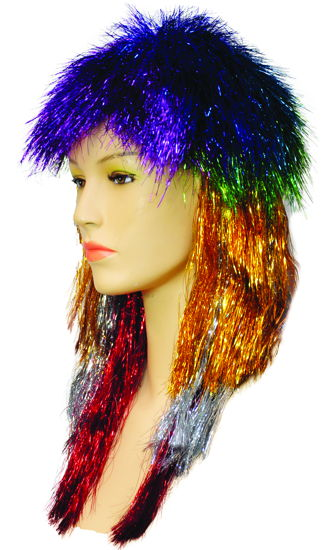 PUNK LONG TINSEL RAINBOW
