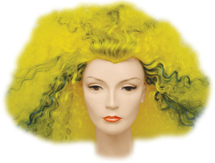 AFRO PULLED OUT YELLOW/BU/BK
