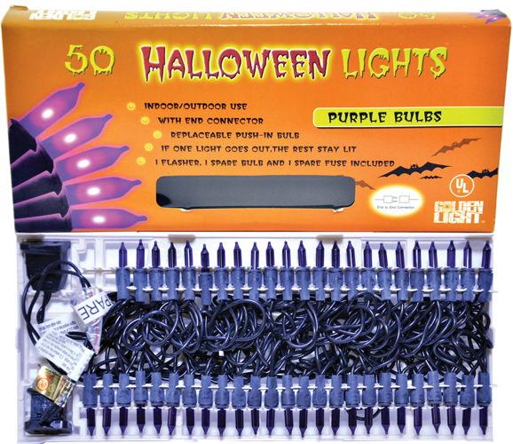 LIGHT SET 50 PURPLE W CONN
