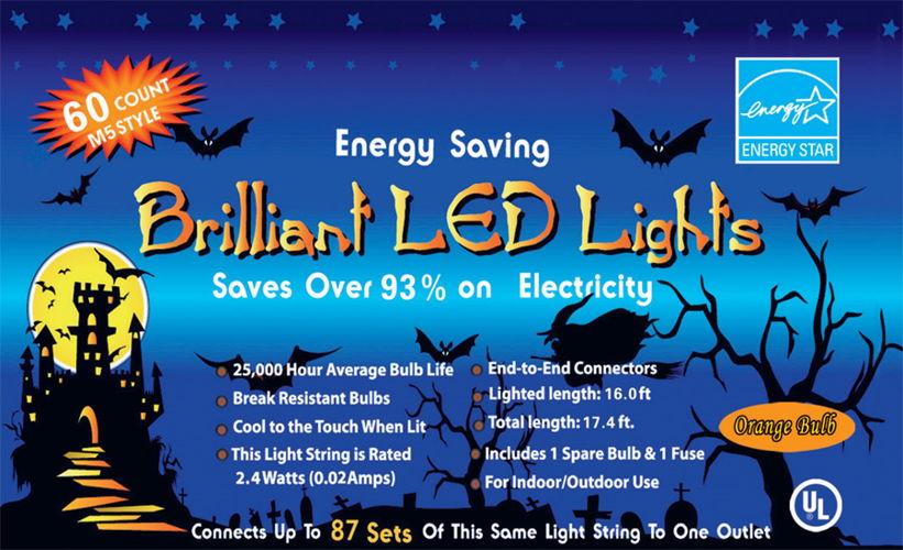 LED LIGHT SET 60 LIGHT ORANGE