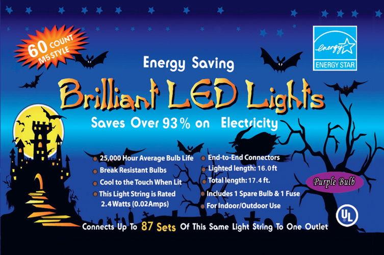 LED LIGHT SET 60 LIGHT PURPLE
