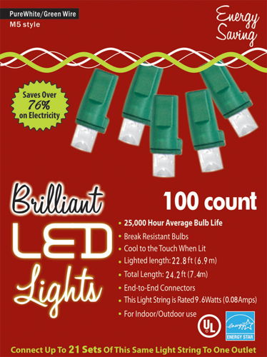 HOLIDAY LIGHTS 100L M5 PURE WT