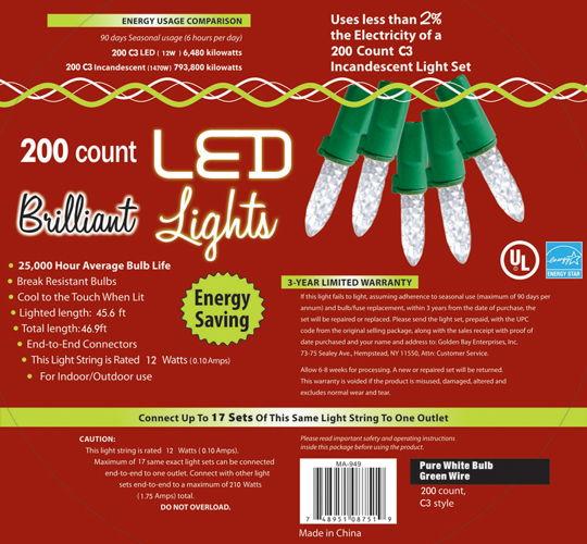 HOLIDAY LIGHTS 200L C3 PURE WT