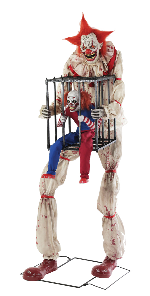CAGEY CLOWN WITH CLOWN IN CAGE