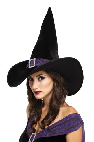 ELEGANT WITCH HAT BLACK PURPLE