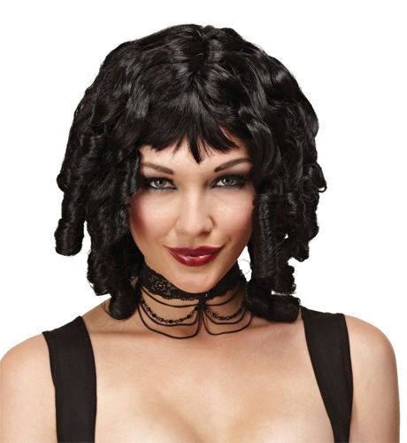 WIG GHOST DOLL BLACK