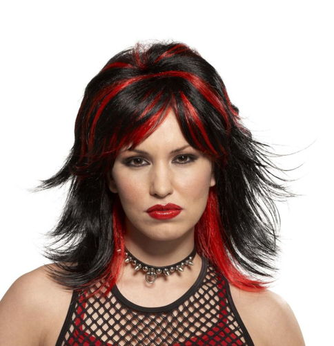 WIG ROCKER UNISEX BLK/RED