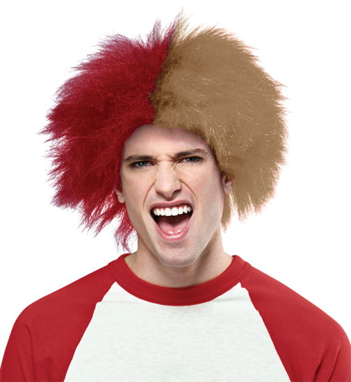 SPORTS FUN WIG RED GOLD