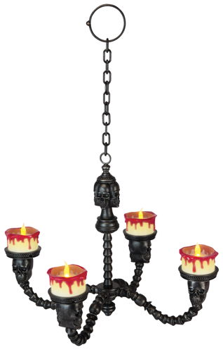 CHANDELIER LIGHTED BLACK