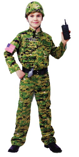 GENERIC ARMY INFTRY COSTUME LG