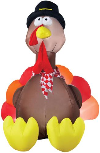 AIRBLOWN TURKEY W LIGHTS 6'