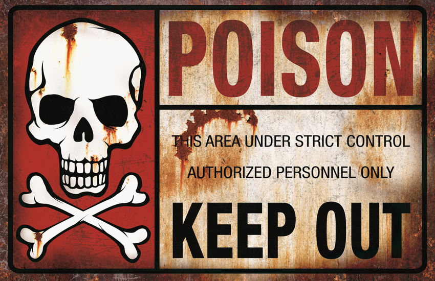 METAL SIGN-POISON