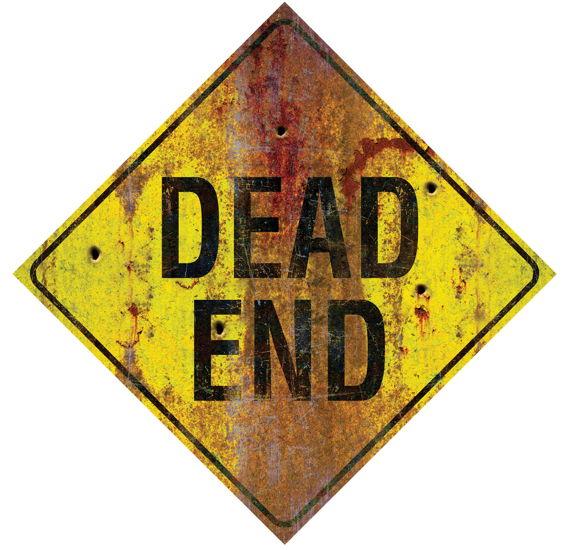 METAL SIGN-DEAD END