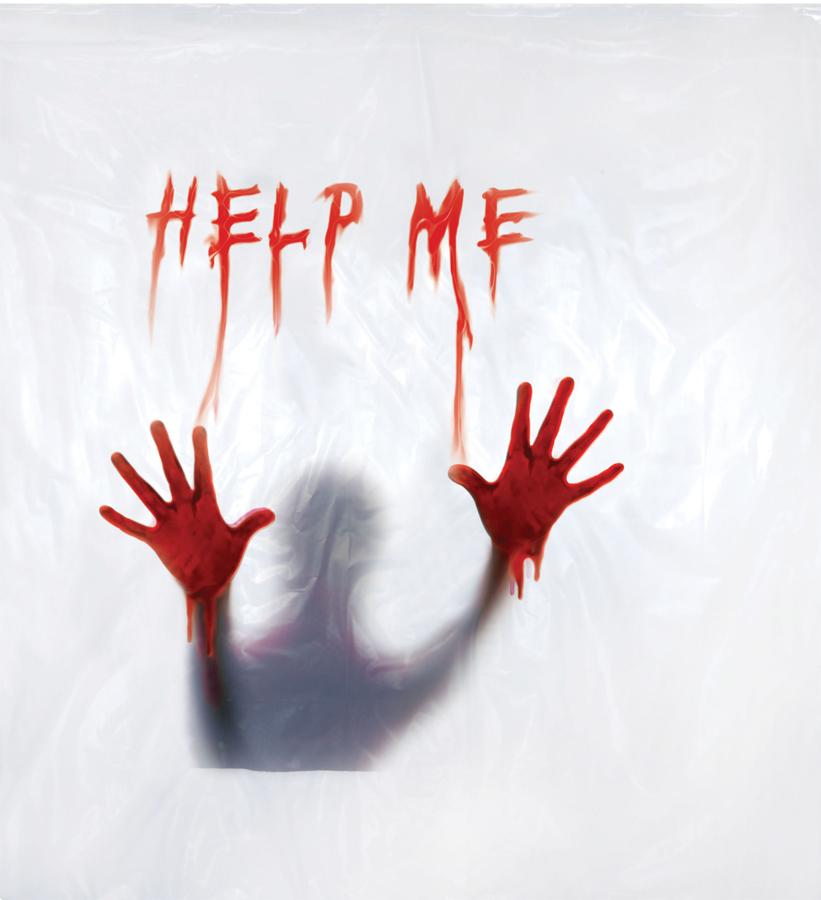 SHOWER CURTAIN HELP ME