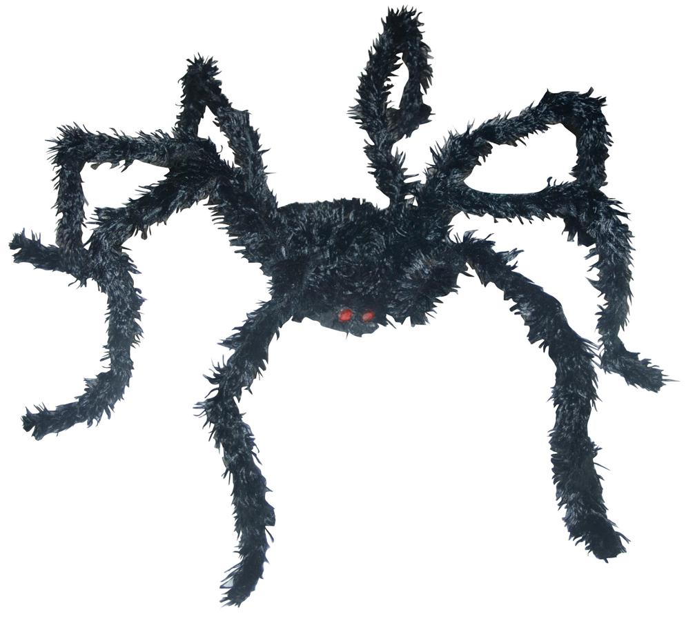 LIGHT UP BK SPIDER LONG HAIR