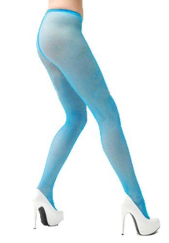 MESH PANTYHOSE NEON BLUE 1 SZ
