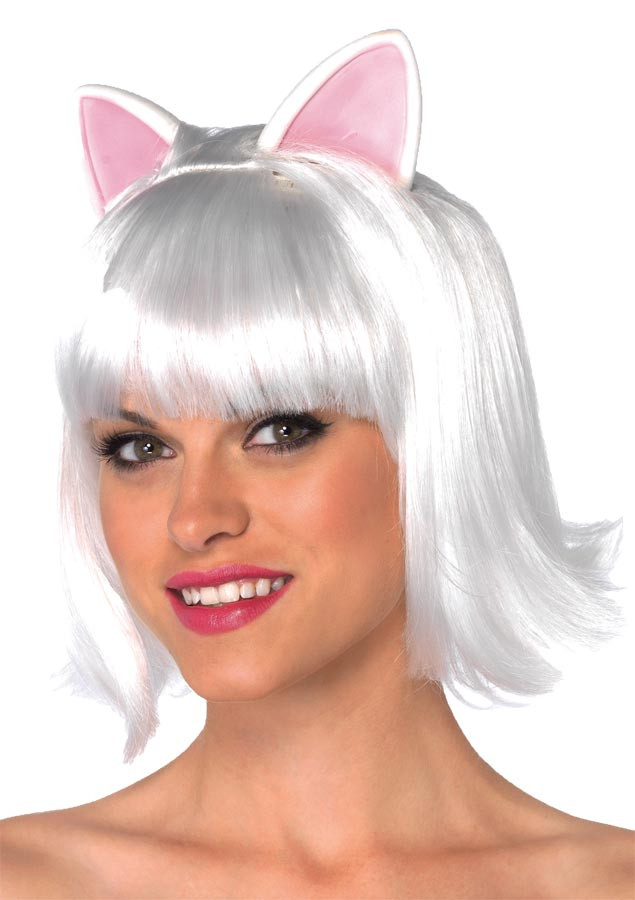WIG KITTY BOB ADULT WHITE